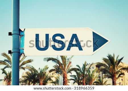 United States of America Road Sign