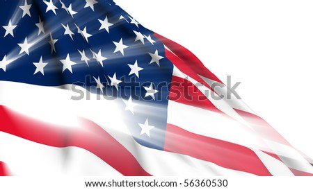 United States of America shine flag - stock photo