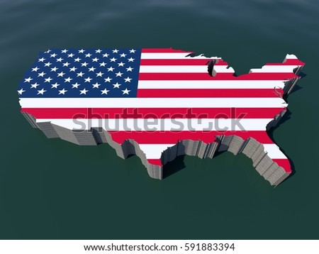 United States America Usa Us Isometric Stock Illustration