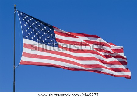United States of American stars and stripes Flag waving •• series ••