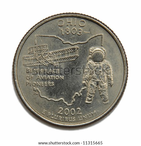 United States Ohio collection quarter dollar - stock photo