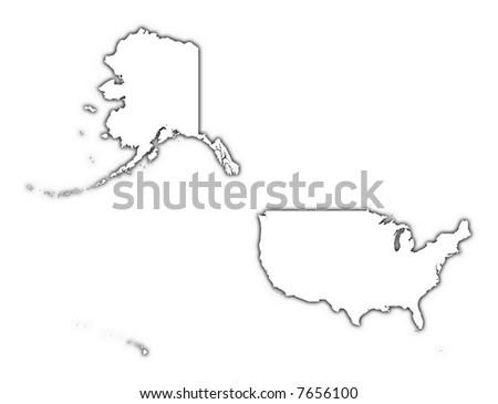 Map Usa Mercator Stock Vector Shutterstock - Us map mercator