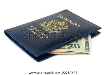 United States Passport wallet with money in it