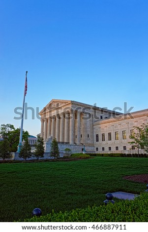 United States Supreme Court Building locates in Washington D.C., USA. The architect of the building was Cass Gilbert. The building is under the jurisdiction of the Architect of the Capitol.