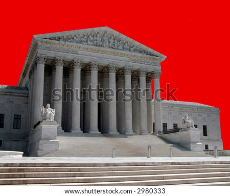 United States Supreme Court in Washington, D.C. - stock photo