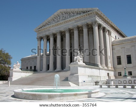 United States Supreme Court in Washington, DC. - stock photo
