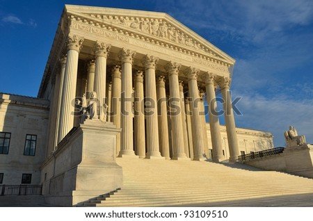 United States Supreme Court in Washington, DC - stock photo