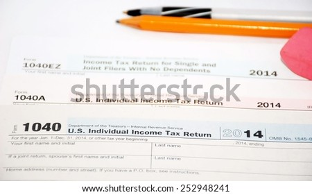 United States tax forms 2014
