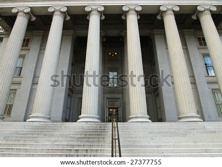 United States Treasury Building in Washington DC