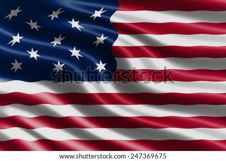 United States waving flag