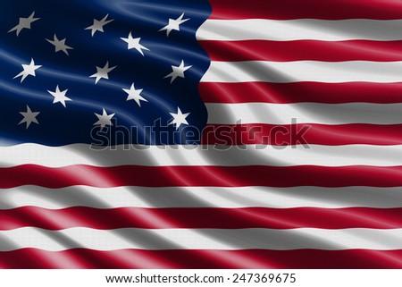 United States waving flag - stock photo