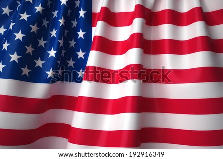 United States waving flag with accurate colors and design. - stock photo