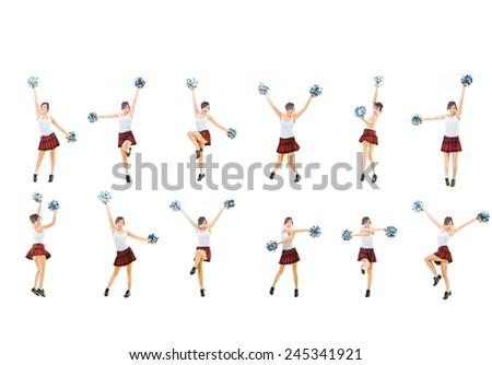 United we Act Girls Cheerleaders  - stock photo