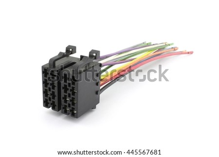 stock photo universal car iso cable player connecting cable 445567681 wiring harness for electronics stock images, royalty free images electronics wiring harness at gsmx.co