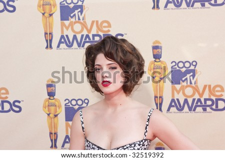 UNIVERSAL CITY, CA - MAY 31, 2009: Actress Ashley Greene arrives at the 2009 MTV Movie Awards held at the Gibson Amphitheatre on May 31, 2009 in Universal City, California. - stock photo