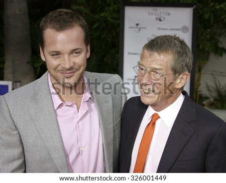 "UNIVERSAL CITY, CALIFORNIA. August 2, 2005. Peter Sarsgaard and John Hurt at the ""The Skeleton Key"" Los Angeles Premiere at the Universal Studios Cinema in Hollywood, California"