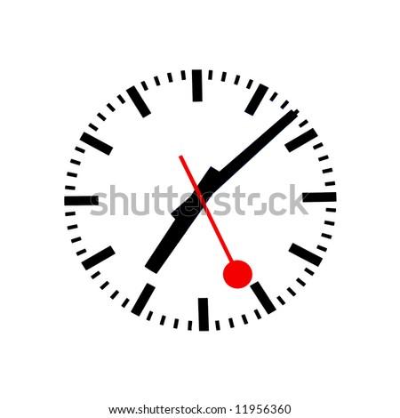 Universal clock shape - stock photo