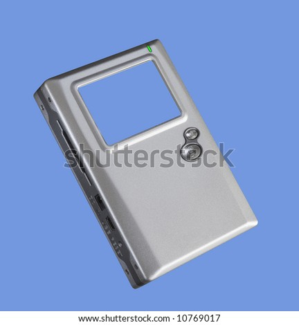 Universal image bank(external HDD), isolated - stock photo