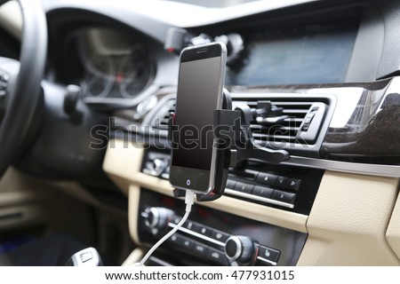 Universal mount holder for smart phones or tablet. Car dashboard or wind-shield holder bracket for mobile phone