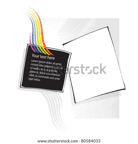 universal page-layout design, freehand drawing elements (raster version) - stock photo
