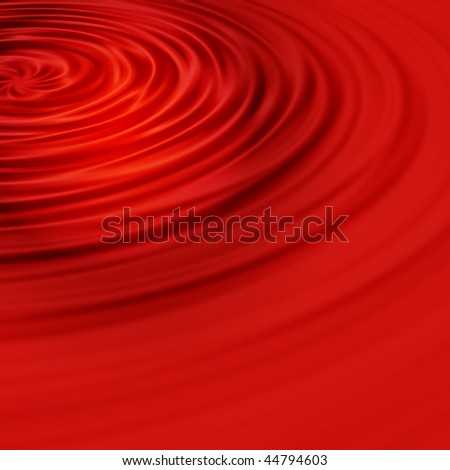 Universal red background in the form of a liquid and ripples in the water - stock photo