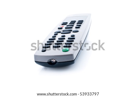 Universal remote control, isolated on white background - stock photo