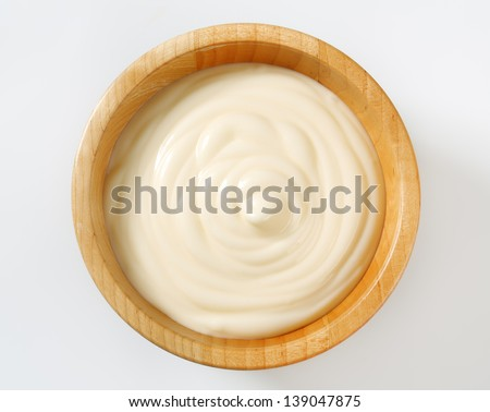 universal sauce in a wooden bowl - stock photo
