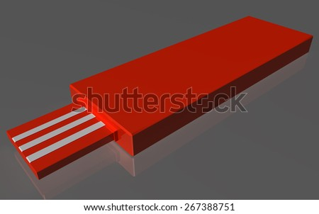 Universal Serial Bus Removable - stock photo
