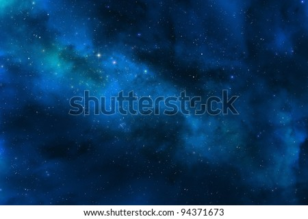 Universe and stars - Milky way galaxy - stock photo