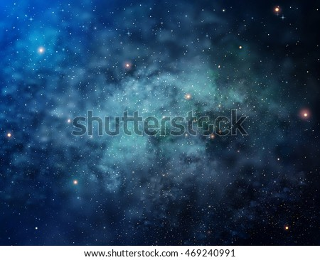 Universe filled with stars, cosmos