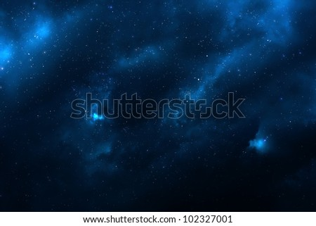 Universe filled with stars, nebula and galaxy