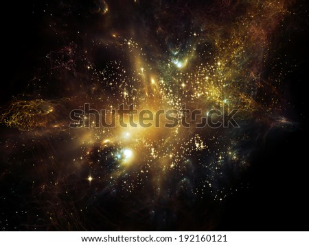 Universe Is Not Enough series. Abstract composition of fractal elements, lights and textures suitable as element in projects related to fantasy, science, religion and design
