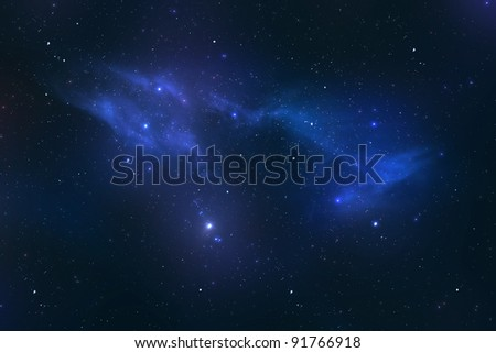 Universe with stars and galaxies - stock photo