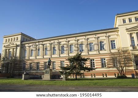 University Bonn; Meckenheimer avenue with Memorial - stock photo