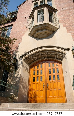 University Building Entrance - stock photo