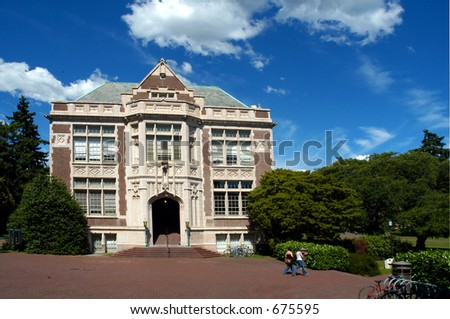University campus / UW Seattle - stock photo