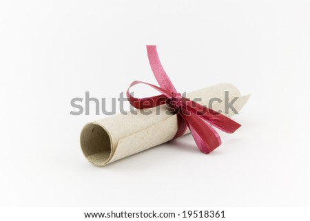 University Diploma - stock photo