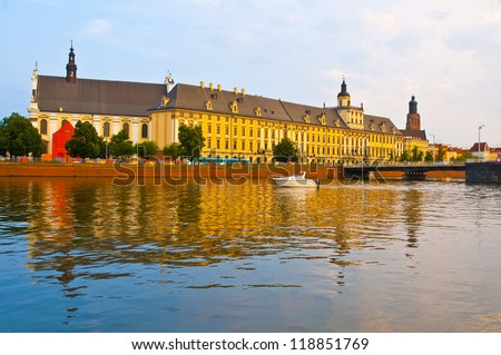 University in Wroclaw, Poland - stock photo