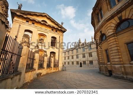 University library Oxford, UK. - stock photo