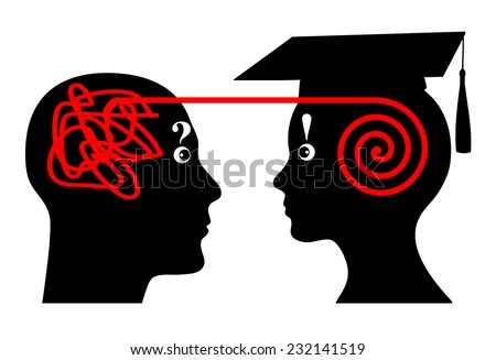 University Mentoring. Mentor assists student in his academic studies - stock photo