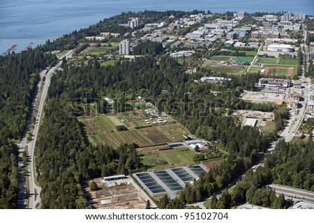 University of British Columbia  and Point Grey - stock photo