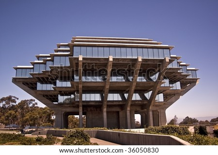 University of California at San Diego - Geisel Library - stock photo