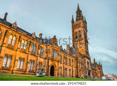 University of Glasgow Main Building - Scotland - stock photo