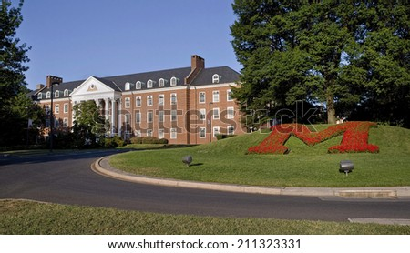 University of Maryland front entrance. - stock photo
