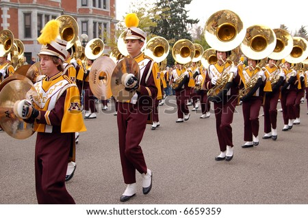 University of Minnesota Marching Band - stock photo