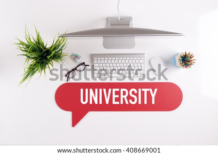 UNIVERSITY Search Find Web Online Technology Internet Website Concept - stock photo