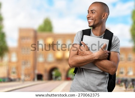 University, Student, Laptop. - stock photo