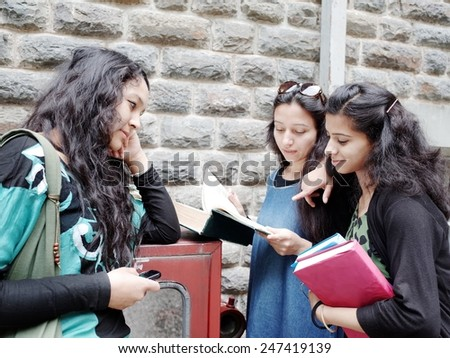 University students preparing for examination. - stock photo