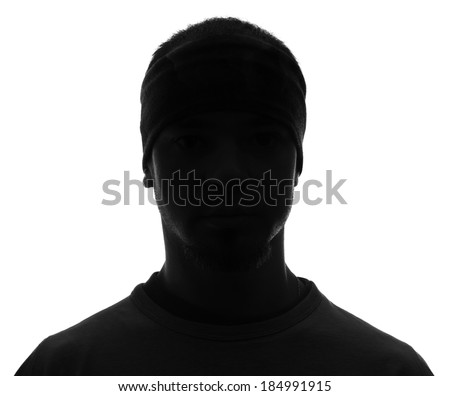 Unknown male silhouette person - stock photo