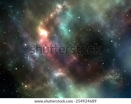 Unknown nebula, new galaxy, stars. Space stars wallpaper. Abstract photo-realistic background. Simple website template. Soft blur color. Web design and mobile interface, banner, wallpaper, poster.  - stock photo